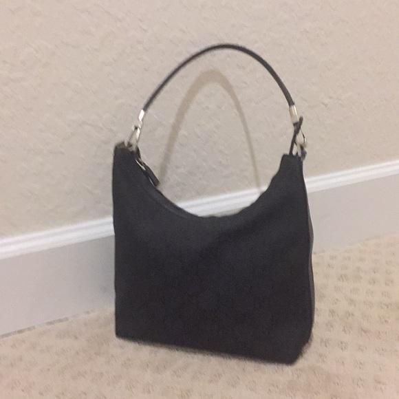 0d6f935ae Gucci Bags | Authentic Black Logo Canvas Medium Hobo Bag | Poshmark